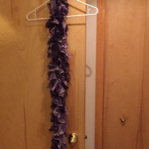Handmade lace shades of purples scarf.